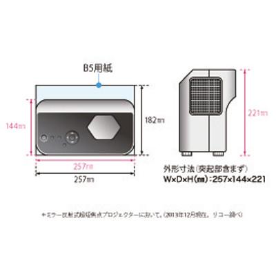 リコー短焦点プロジェクター WX4152