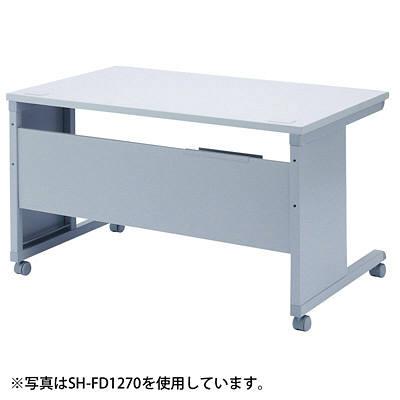 サンワサプライ SH-FDシリーズ SOHOデスク(キャスター付) 平机 引出し無し ライトグレー 幅1400×奥行700×高さ700mm 1台 (直送品)