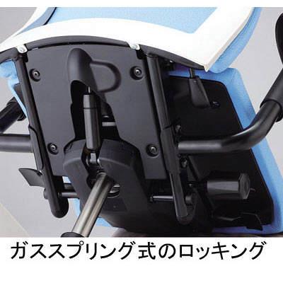 イトーキ コペル オフィスチェア 肘無し ネイビー/ブラック YCS-NBBL 1脚 (直送品)