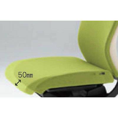 イトーキ コセール オフィスチェア ローバック アジャスタブル肘付 オレンジ/ミルキーホワイト KE-947GS-T1D3H8 1脚 (直送品)