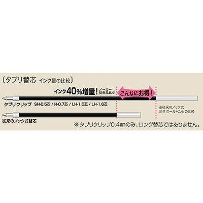 ゼブラ タプリクリップボールペン 0.5mm 赤 BNS5-R 1箱(10本入)