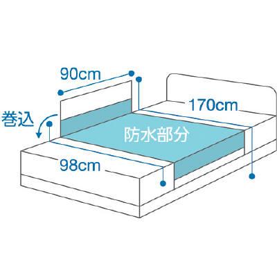 サラッキーシーツ ホワイト 2222 日本エンゼル (直送品)