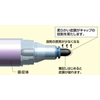 シヤチハタ 乾きまペン 油性マーカー 中字・丸芯 K-177N 赤 1本