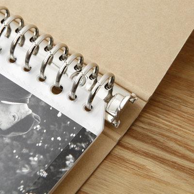 再生紙バインダーA4・30穴・ベージュ