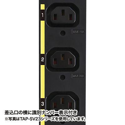 サンワサプライ サーバーラック用コンセント 19インチ用 IEC C13/8個口/3m/200V・20A TAP-SV2208 (直送品)