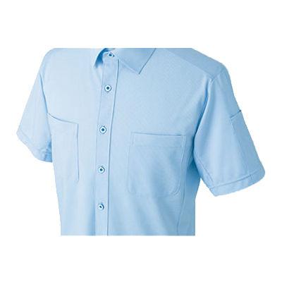 明石スクールユニフォームカンパニー 男女兼用ニットシャツ サックス 5L UN5502-6-5L (直送品)
