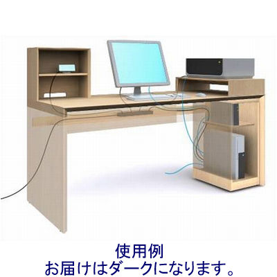 岡村製作所 ファルテ2 コアデスク専用サブデスク 幅350×奥行600mm ダーク (直送品)