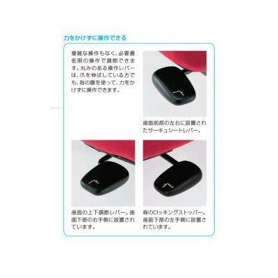 イトーキ cassico(カシコ) オフィスチェア 肘なし 背面:レザータイプ(セピアブラウン) 背座:ラズベリーレッド 1脚 (直送品)