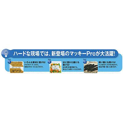マッキープロ細字 特殊用途DX 赤 油性ペン ゼブラ