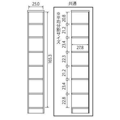 Shelfit エースラック/カラーラック 幅286×奥行310×高さ1780mm ナチュラル (取寄品)