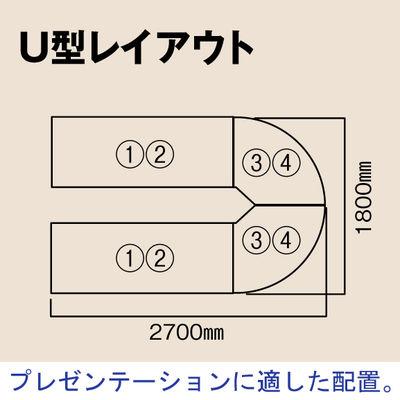 プラス TMユニットテーブル 幅1800