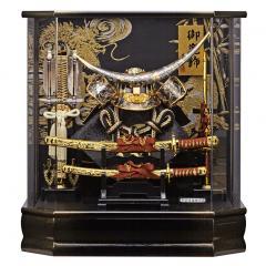 フジナミ h285-fn-165-743 五月人形 兜ケース飾り 六角 新・勝輝