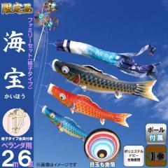 徳永 tk-sp-a-20 こいのぼり 海宝 ベランダ用 2m ファミリーセット