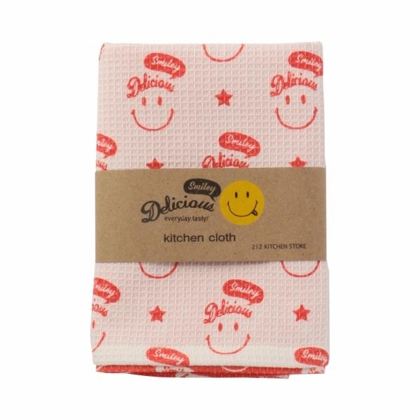 【SALE】Delicious Smile (デリシャス スマイル) キッチンクロス RD