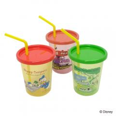 【SALE】Disney (ディズニー) Happy Campers /ストロー付タンブラー3PセットA