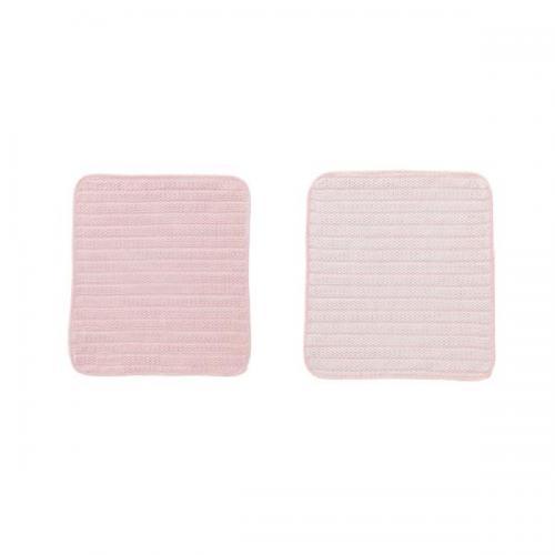 【212キッチンストア】 K243P 優 吸水ふきん2枚組 ピンク