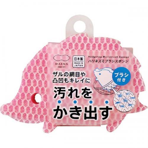 【212キッチンストア】 K661P ハリネズミブラシスポンジ ピンク