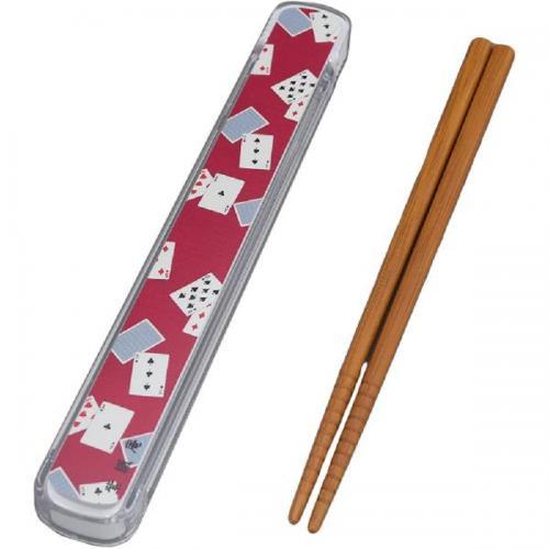 【212キッチンストア】 61051 紫織庵 箸&ケース トランプ