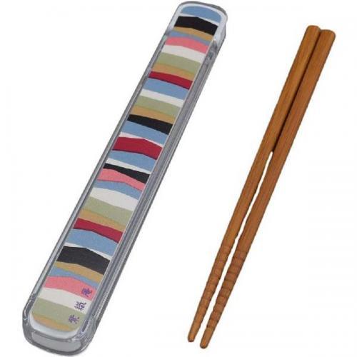 【212キッチンストア】 61052 紫織庵 箸&ケース 重ね横段