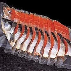 069 極上紅鮭姿切身「B」 1本・1.7~2.0kg /切身が一切れずつ真空パックされています