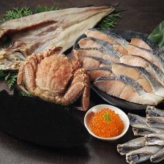 GB001 <送料無料! ネットショップ限定販売>北海道お試し海鮮福袋 蟹/鮭/魚卵/一夜干
