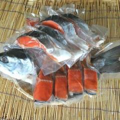 079 極上紅鮭姿切身(1本・1.8~2.0kg・冷凍・化粧箱入・ご贈答ギフト)