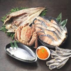 GB001 <送料込>北海道お試し海鮮福袋 蟹/鮭/魚卵/刺身/一夜干