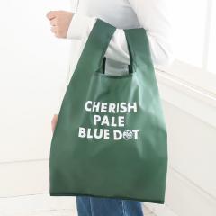 CHERISH PALE BLUE DOT/エコバッグM/グリーン/―