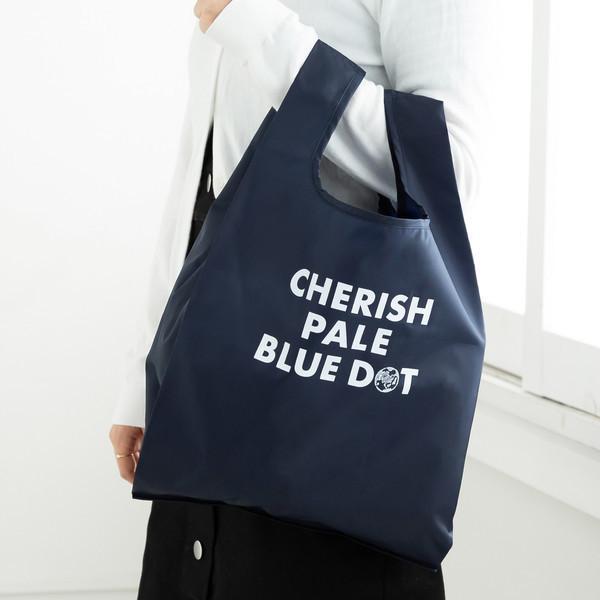 CHERISH PALE BLUE DOT/エコバッグM/ネイビー/―