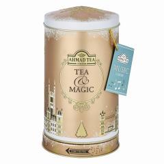 【音不良のため半額セール】数量限定&冬季限定!アーマッドティー オルゴール缶(丸型) アールグレイ リーフティー 80g