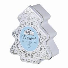 【数量限定】冬季限定アーマッドティー ツリー缶(ホワイト) イングリッシュブレックファースト リーフティー 60g