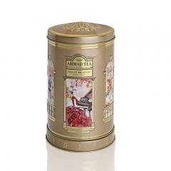 【数量限定】アーマッドティー オルゴール缶(丸型) イングリッシュブレックファースト リーフティー 100g