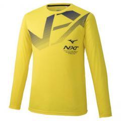 Tシャツ 長袖 メンズ レディース ミズノ mizuno N-XT スポーツウェア トレーニング ランニング 部活 長袖シャツ ビッグロゴ クルーネック 男女兼用 トップス/32JA9740
