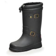 レインブーツ 長靴 キッズ ジュニア 女の子 男の子 子ども イフミー IFME 子供靴 15-19.0cm ながくつ 雨 雪 男児 女児 防滑意匠 エンジニアブーツ風 おしゃれ 男児 女児 ブラック/80-9726