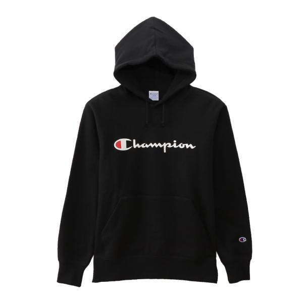 プルオーバー スウェット レディース Champion ロゴフードスウェット C3-Q102 パーカー トレーナー (チャンピオン) 長袖 ブランドロゴ