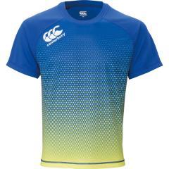 Tシャツ 半袖 ラグビーウェア メンズ カンタベリー canterbury トレーニングティ プラクティスシャツ スポーツウェア ラガーシャツ 練習 男性 吸汗速乾 軽量 クルーネック ロゴ トップス /RG39508