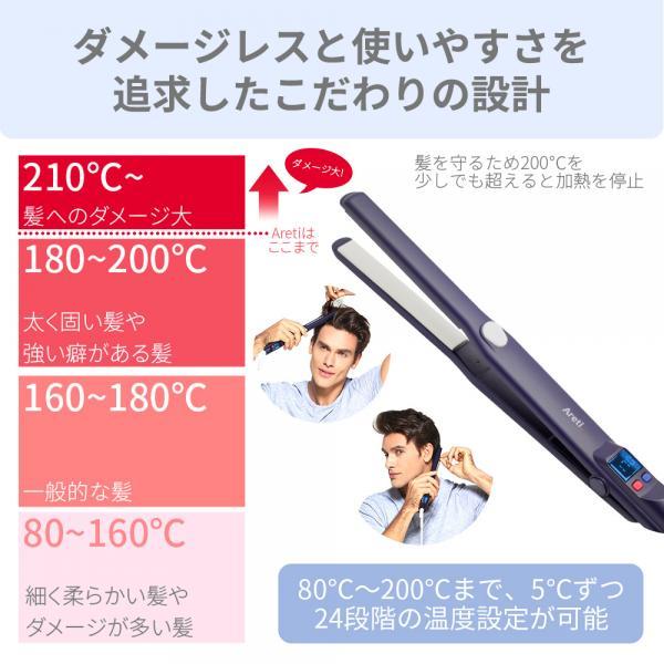 Areti マイナスイオン ピュアセラミック 15mm ストレート カール 両用ヘアアイロン i628PCPH-IDG(インディゴ) 海外対応 プロ仕様
