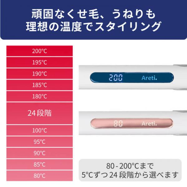 5%OFFクーポン対象商品 Areti アレティ 東京発メーカー 最大3年保証 20mmマイナスイオン 2way ヘアアイロン コテ ストレート & カール セラミックコーティング i679GD |アイロン ヘアーアイロン クーポンコード:V6DZHN5