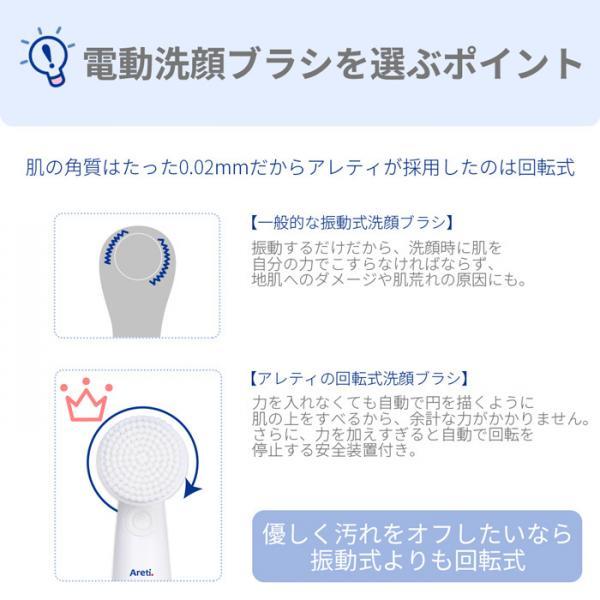 Areti 電動 洗顔 ブラシ 毛穴ケア クレンジング キット ボディブラシ W04