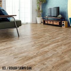 フロアタイル 木目調 接着剤付き 【ラフソーンオーク No.3】 フローリングタイル 72枚セット DIY 簡単 貼るだけ 床材