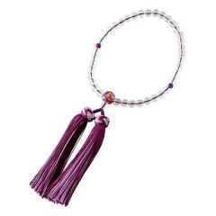 たまのお 水晶×紫水晶 親珠アクリル絵入