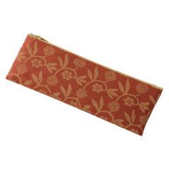 数珠袋 ペンケース型(綿) 笹つる ピンク