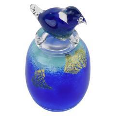 ミニ骨壺 吹きガラス アッシュボトル 鳥 ペット供養