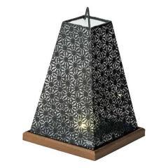 LEDミニスタンド 花麻/黒LS-112 お盆 提灯