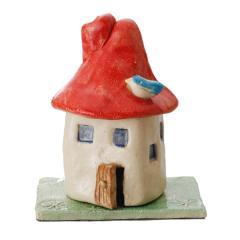 香炉 煙突の家 赤 鳥 香立