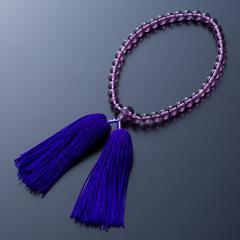 紫水晶色 人絹2本より房 尺2玉