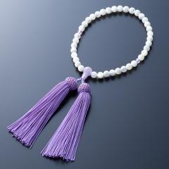 蝶貝 紫メノウ仕立 正絹頭付房