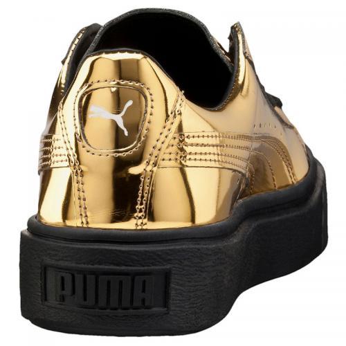 PUMA BASKET PLATFOAM METALLIC (プーマ バスケット プラットフォーム メタリック) GOLD/GOLD/PUMA BLACK【レディース スニーカー】16HO-I