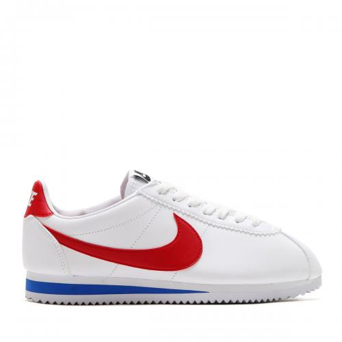 NIKE WMNS CLASSIC CORTEZ LEATHER (ナイキ ウィメンズ クラシック コルテッツ レザー) (WHITE/VARSITY RED-VARSITY ROYAL)