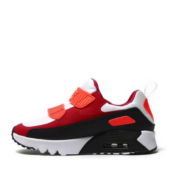 NIKE AIR MAX TINY 90 (PS)(ナイキ エア マックス タイニー 90 PS)WHITE/NOBLE RED-ANTHRACITE-SOLAR RED【キッズ スニーカー】17HO-I